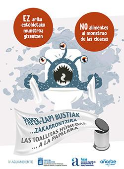 """Luchan contra el """"monstruo de las cloacas"""" en Donostia,"""
